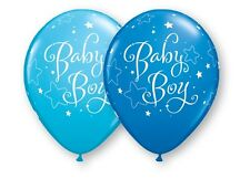 "10 pc 11"" Baby Boy Stars Latex Balloon Party Decoration Decorator Shower Welcome"