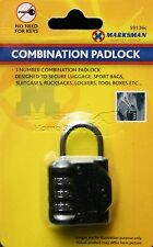 3 Digit Combination Padlock 30mm - Pad lock 3 Number Resettable Combination