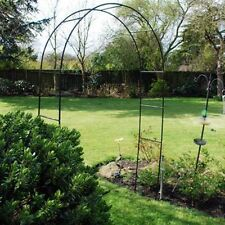 Garden Arch Steel Frame Climbing Plants Archway 2.4m High Roses Arches