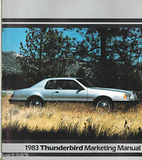 1983 Ford THUNDERBIRD DEALER ONLY Salesman's Brochure: TURBO COUPE,HERITAGE,