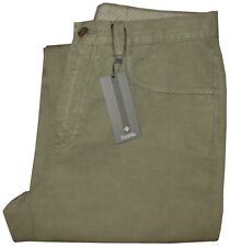 $295 NEW ZANELLA ARMY OLIVE VINTAGE WASH SOFT 5 POCKET JEANS CASUAL PANTS 34 *