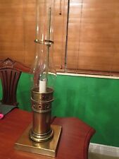 Brass Table Lamp in Style of Vintage Oil Lamp Electric Lamp Uses Bulb Nautical