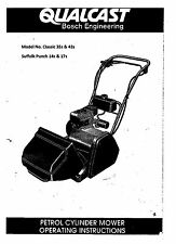 qualcast mower operation & Instruction manual classic 35s, 43s,& punch models