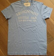 NWT Abercrombie & Fitch Mens Blue OYSTER BAR Cold Beer & Seafood T-Shirt M