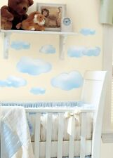 CLOUDS WALL DECAL APPLIQUES - STICKERS -PEEL & STICK, KIDS BEDROOM, BABY NURSERY