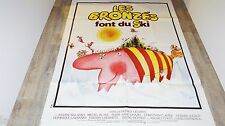 LES BRONZES font du ski  ! le plendid   affiche cinema 1979 ferracci ! 120x160cm