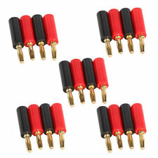 10 pcs 4mm New Adapter Wire Cable Audio Speaker Banana Plugs Connector Black Red