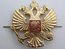 RUSSIA RUSSIAN ARMY SOVIET IMPERIAL EAGLE CAP HAT BADGE