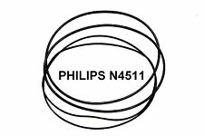 COURROIES SET PHILIPS N4511 MAGNETOPHONE A BANDE EXTRA FORT NEUF FABRIQUE N 4511