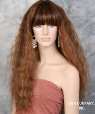 Super model Long Spanish Wavy Full Body Wig Brown Auburn Blonde mix HEP 4-27-30