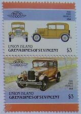 1928 FORD MODEL A Car Stamps (Leaders of the World / Auto 100)