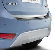 Genuine Hyundai iX20 Rear Bumper Protector - Finished in Black Moulded Plastic