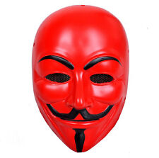 NEW Red Airsoft Paintball PP Full Protection V for Vendetta Mask PROP Cosplay