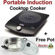 HIGH-TECH PORTABLE INDUCTION COOKER COOK TOP + FREE COOKING POT KITCHEN COUTURE