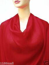 By The Yard 100% Pure Silk Chiffon Fabric Soft ahd Sheer Fabric ( Red Color)