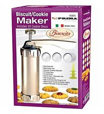 BISCUIT COOKIE MAKER INCLUDES 20 COOKIE DISCS WITH 4 ICING NOZZLES