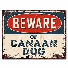 PPDG0003 Beware of CANAAN DOG Plate Rustic Chic Sign Decor Gift