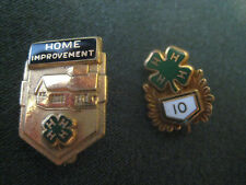 vtg 4-H PIN LOT 10 year Gold filled Home Improvement Sears Foundation lapel hat
