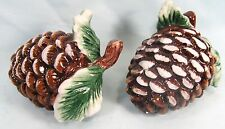 Pine Cones ceramic salt & pepper shakers kitchen decor