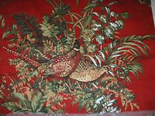 """Vintage 22""""W X 92""""L Piece Thibaut """"SUSSEX"""" Toile Red Curtain & Drapery Fabric"""