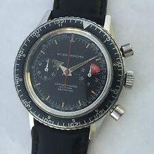 NIVADA GRENCHEN AVIATOR SEA DIVER VINTAGE CHRONOGRAPH MANUAL WIND VALJOUX 92