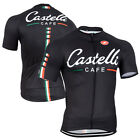 Fashion Mens Short Sleeve Shirt Racing Tops Wear Cycling Jersey Quick Dry Black