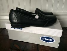 Women's Dr. Scholl's Black Leather Slip On Loafers Size 6.5 NEW