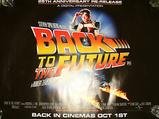 BACK TO THE FUTURE 25TH ANNIVERSARY quad poster new