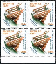 CHILE 2011 STAMP # 2457 MNH BLOCK OF FOUR DESING BOXES