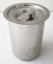 "5"" Stainless Steel FOOD CONTAINER + LID Utensils Flour Soup Stock STORAGE ~ NEW"