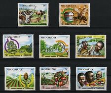 World Food Day Agriculture mnh 8 stamps 1982 Rwanda #1075-82 Bees Fish Cattle