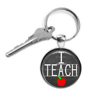 I Teach keyring, Teacher Keychain, Gifts for her, School, Teacher Keyring, Key