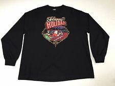 (XL) UNDFTD Happy HollyDAZE Mr Cartoon Santa Black Shirt Impala Santa Christmas