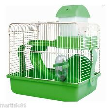 2 étage hamster souris cage storey house bed diapositive ROUET bouteille jouets