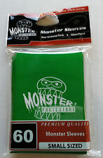 Yugioh Monster Protectors GREEN LOGO Glossy Non-Textured Deck Protectors/Sleeves