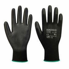 10 Pairs Click 2000 EC9BLL PU Coated Precison Gloves BLACK Colour LARGE