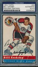 1954/55 Topps #20 Bill Gadsby PSA/DNA Certified Authentic Auto Autograph *8365