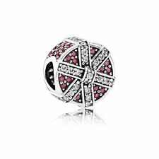 GENUINE AUTHENTIC PANDORA RED SHIMMERING GIFT CHARM 792006CZR