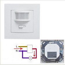 AC 220V 160° Infrared PIR Motion Sensor Recessed Wall Lamp Bulb Switch  New