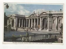 Bank Of Ireland College Green From Trinity College Dublin Vintage Postcard 697a