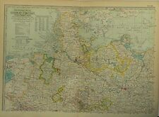 1897 Century Map of German Empire, Northern Part