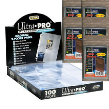 50 Ultra Pro PREMIUM 9-Pocket Trading Card Album Pages + 500 Soft Sleeves