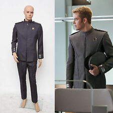 Star Trek Into Darkness Captain Kirk Spock Grey Men Uniform Costume