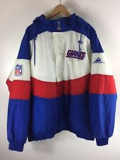 VINTAGE PRO LINE APEX ONE NEW YORK GIANTS WAVE PARKA JACKET SIZE XL BIG BLUE NYG