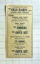 1967 Old Barn Club Penzance The Embers The Onyx Set