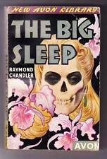 THE BIG SLEEP by Raymond Chandler - 1943 Avon paperback - skull cover - NICE!