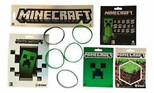 Minecraft Party Bag Fillers - Minecraft Stickers Wristbands & Party Items