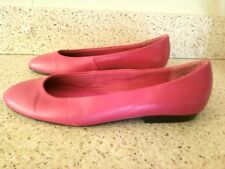 Well Loved MOOTSIES TOOTSIES Pink Leather Ballet Flats 8.5 M Worn Pre Owned LOOK