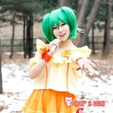 Macross Frontier Ranka Lee Green Emerald Cosplay wig