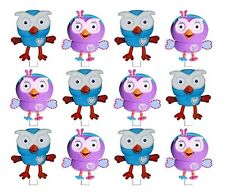 STAND UP GIGGLE AND HOOT HOOTABELLE EDIBLE WAFER CUPCAKE DECORATION IMAGE TOPPER